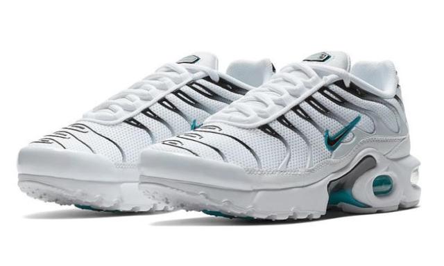 club hará Buen sentimiento  Nike Air Max Plus GS Boys Size 3.5Y Women's 5 White Blue AO9340-100 for  sale online