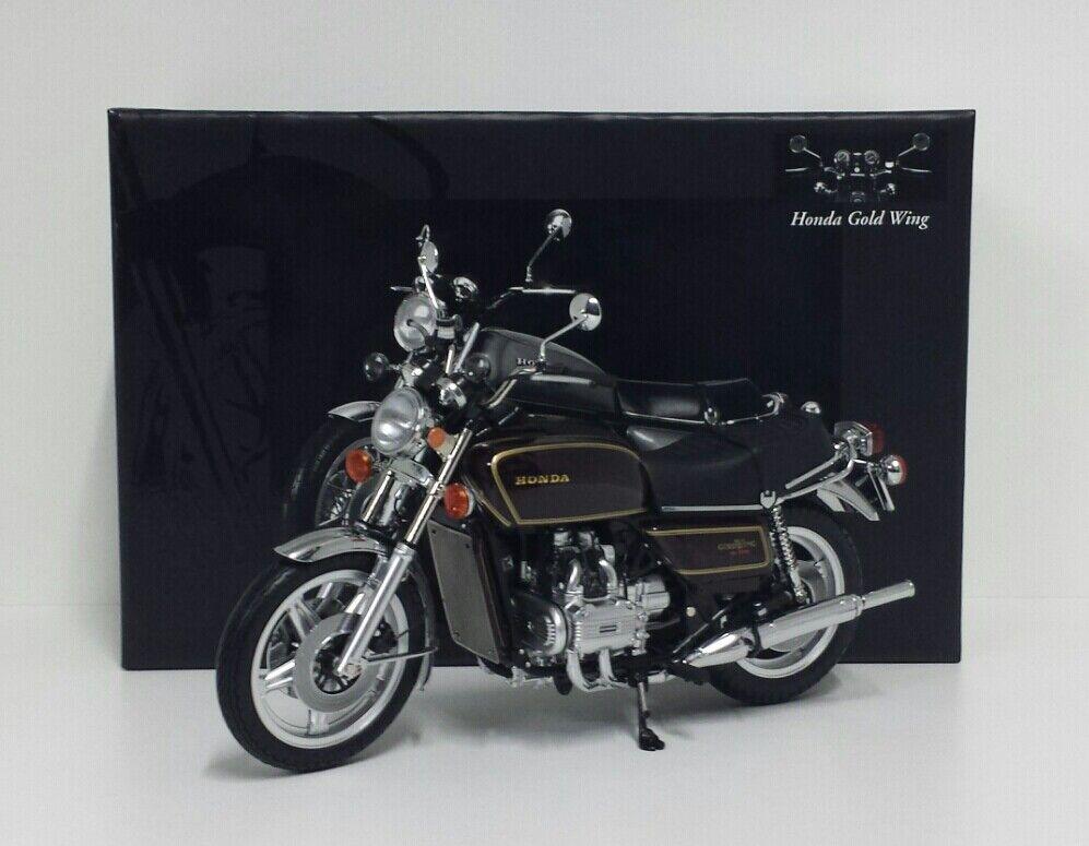 MINICHAMPS 1 12 MODELLINO MOTO HONDA oroWING GL 1000 K3 1978 marróneE DIE CAST