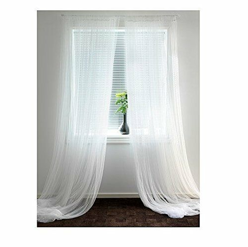 IKEA Lill Sheer Curtains 2 Panels 98 X 110 White