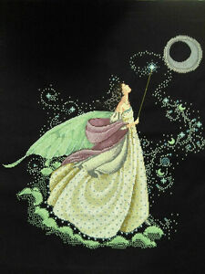 LARGE-New-Completed-finished-cross-stitch-needlepoint-034-MOON-FAIRY-034-home-decor-gift