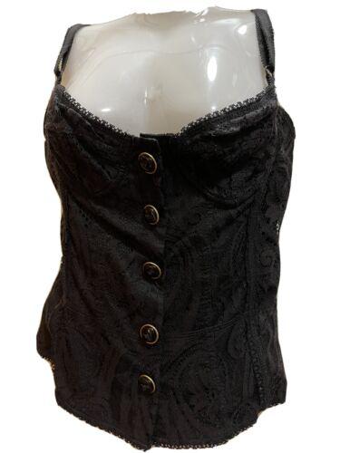 Dolce& Gabbana Black Lace Corset Top Size 26/40 - image 1