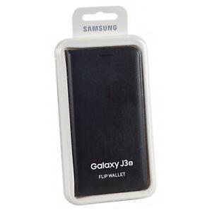 Original-Samsung-Galaxy-J3-Tarjeta-Almacenamiento-Libro-Cartera-Funda-Tipo-Folio