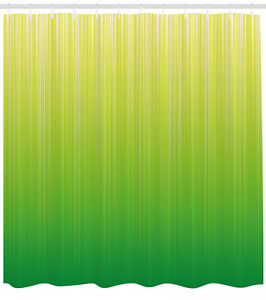 """Lime Green Shower Curtain Striped Futuristic Print for Bathroom 84"""" Extralong"""