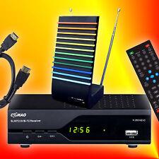 Comag SL30T2 H.265 HEVC USB 2.0 DVB-T2 HD Receiver + aktive Antenne + HDMI-Kabel