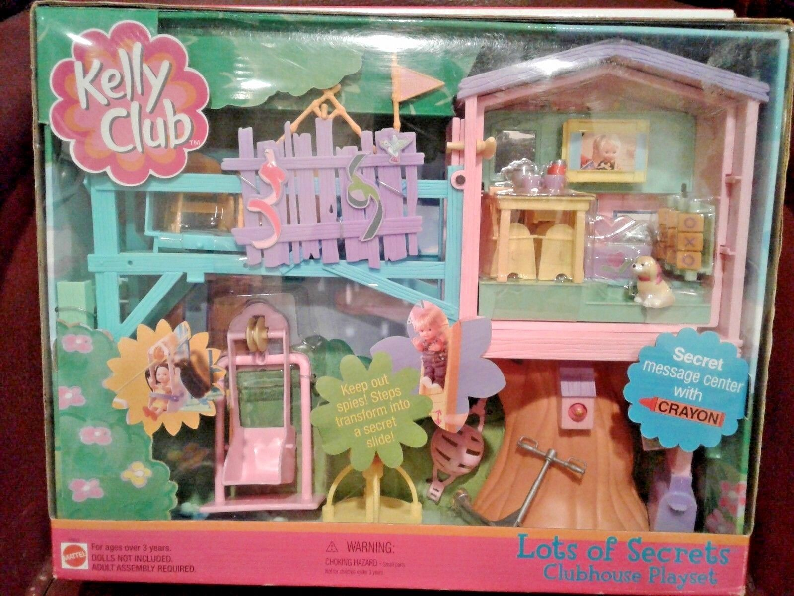 Barbie Kelly Lots of Secrets Clubhouse Playset