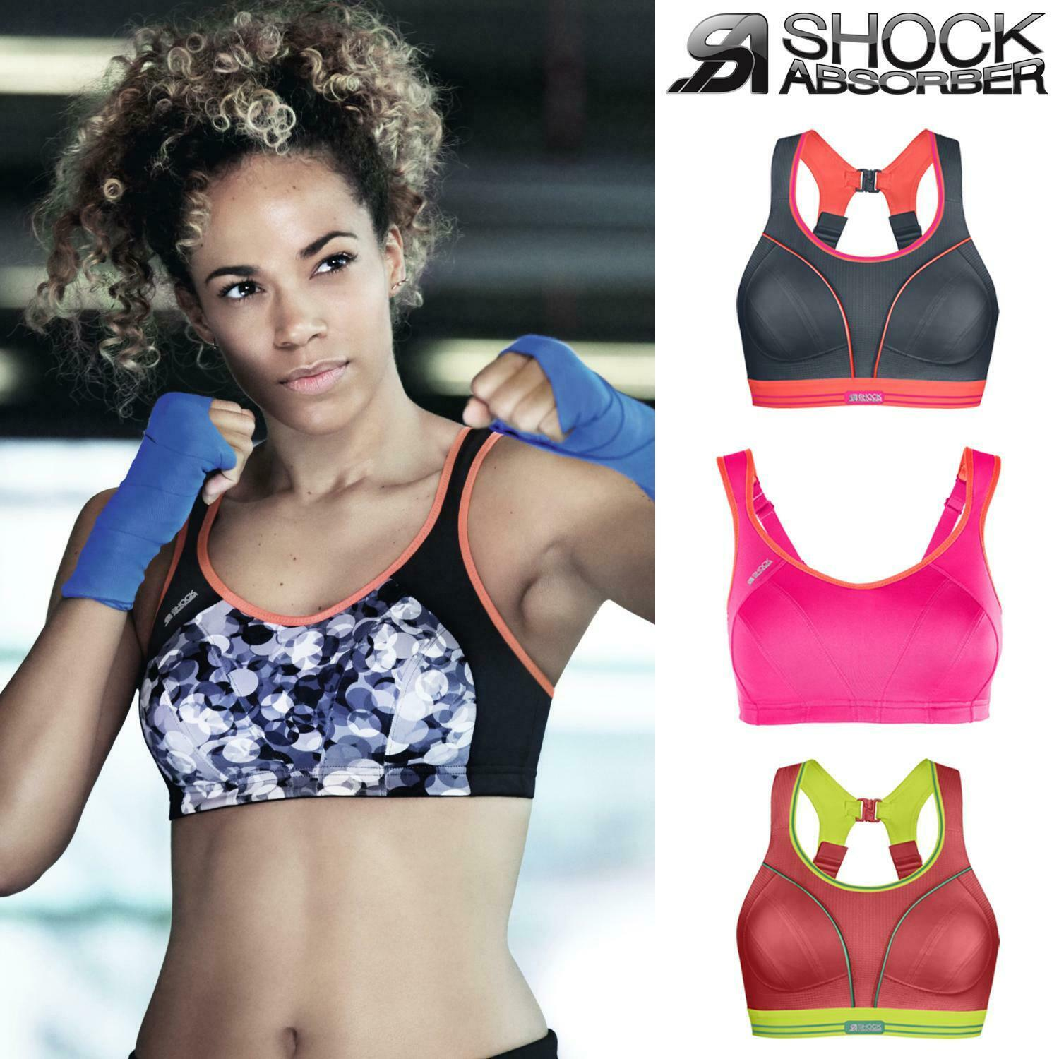 Shock Absorber Active Multi Womens Sports Support Bra Purple