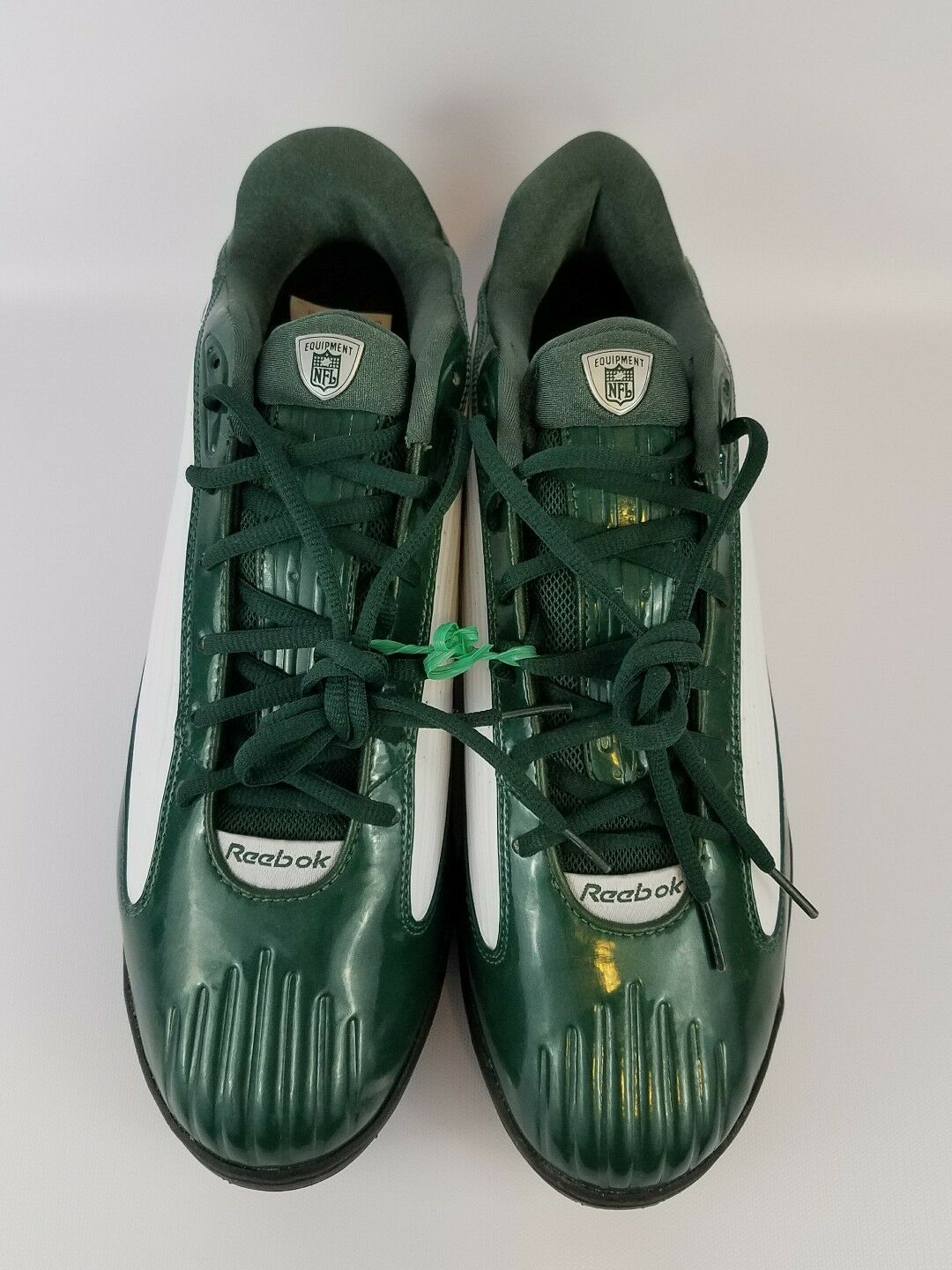 NEW Mens Reebok NFL Equipment US 13.5 Green White Cleats Sports Shoes RB408KTS20