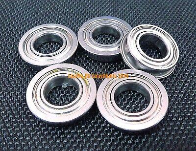 5 PCS 440c Stainless Steel FLANGE Ball Bearing Bearings SMF84zz MF84zz 4x8x3 mm