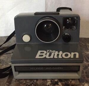 """The Button"" Vintage Polaroid Instant SX-70 Land Film Camera Gray"