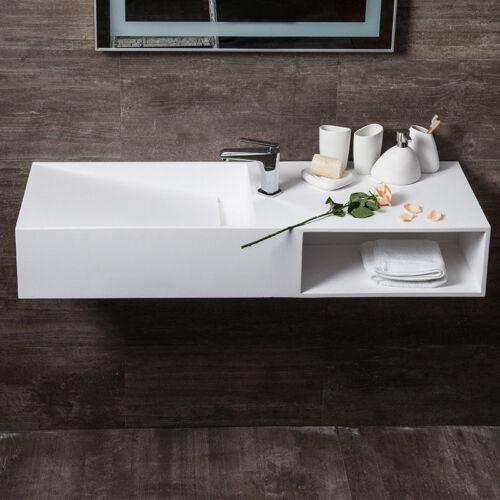 Matte White Hand Wash Basin, Small Rectangle Bathroom Sink