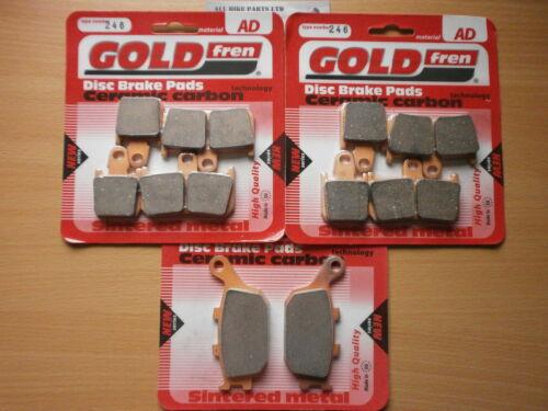 Ensemble complet fritté avant et arrière plaquettes de frein pour yamaha R1 2007-2010 goldfren
