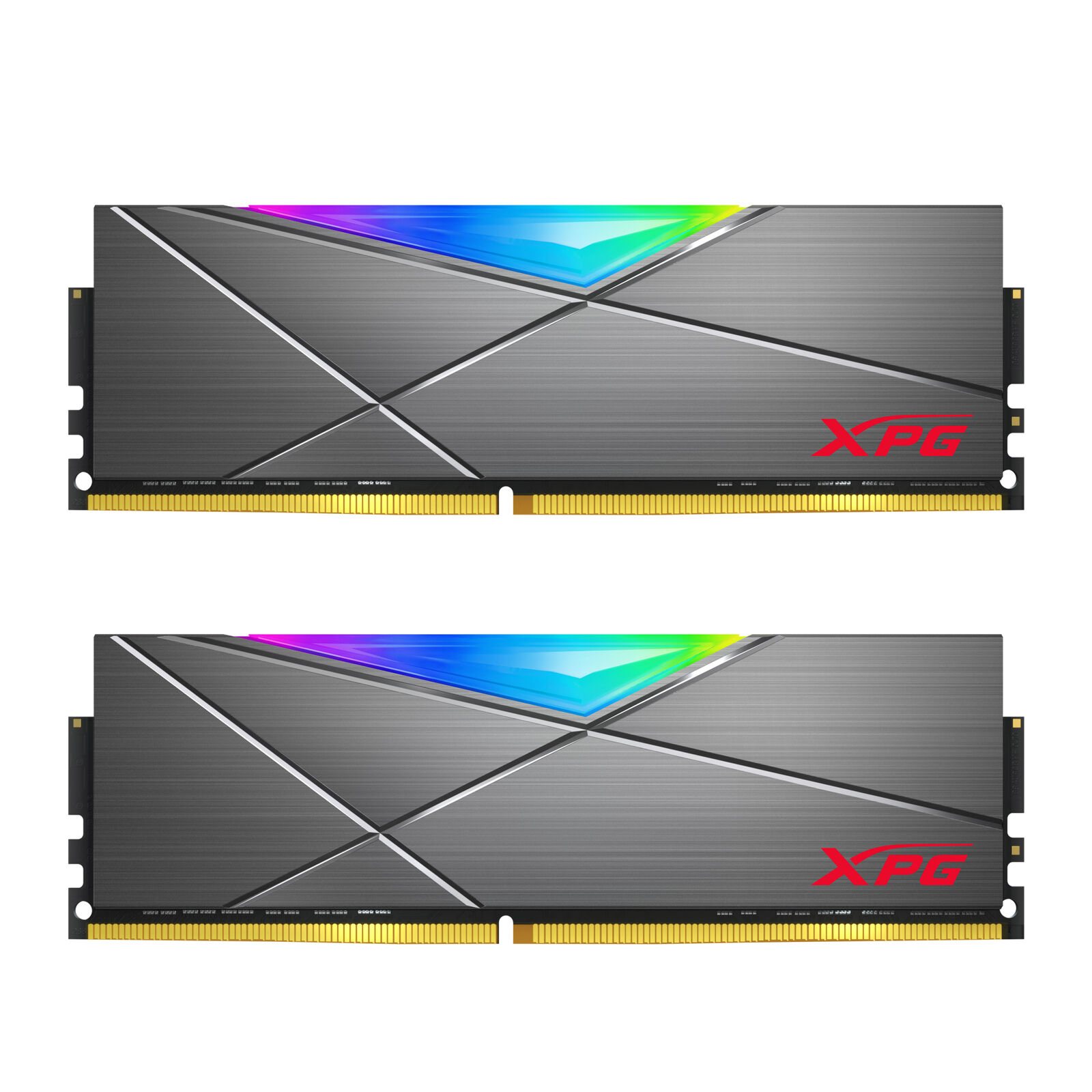 XPG SPECTRIX D50 RGB Desktop Memory: 16GB (2x8GB) DDR4 3200MHz CL16 GREY. Buy it now for 94.99