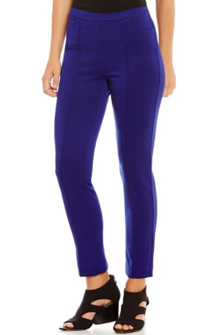IC Collection by Connie K  bluee Slim Ankle Pants M