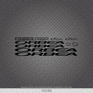 0644 Orbea Bicycle Stickers Black Decals Transfers