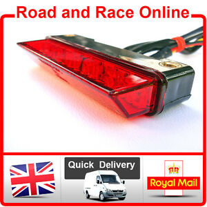 LED-Rear-Stop-Tail-Light-Small-Red-Lens-Fit-Streetfighter-Custom-Special-Project