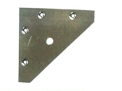 83mm x 83mm BZP FLAT CORNER PLATE MENDING REPAIR BRACE BRACKET - Pack of 2