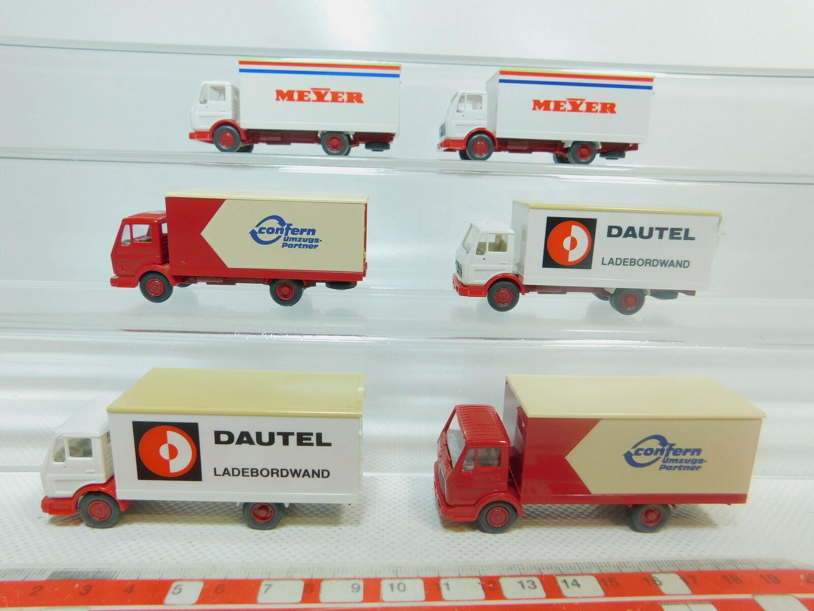 Bo839-0, 5  6x Wiking h0 1 87 camion Mercedes Mb  Dautel + Confern + Meyer, S.G.