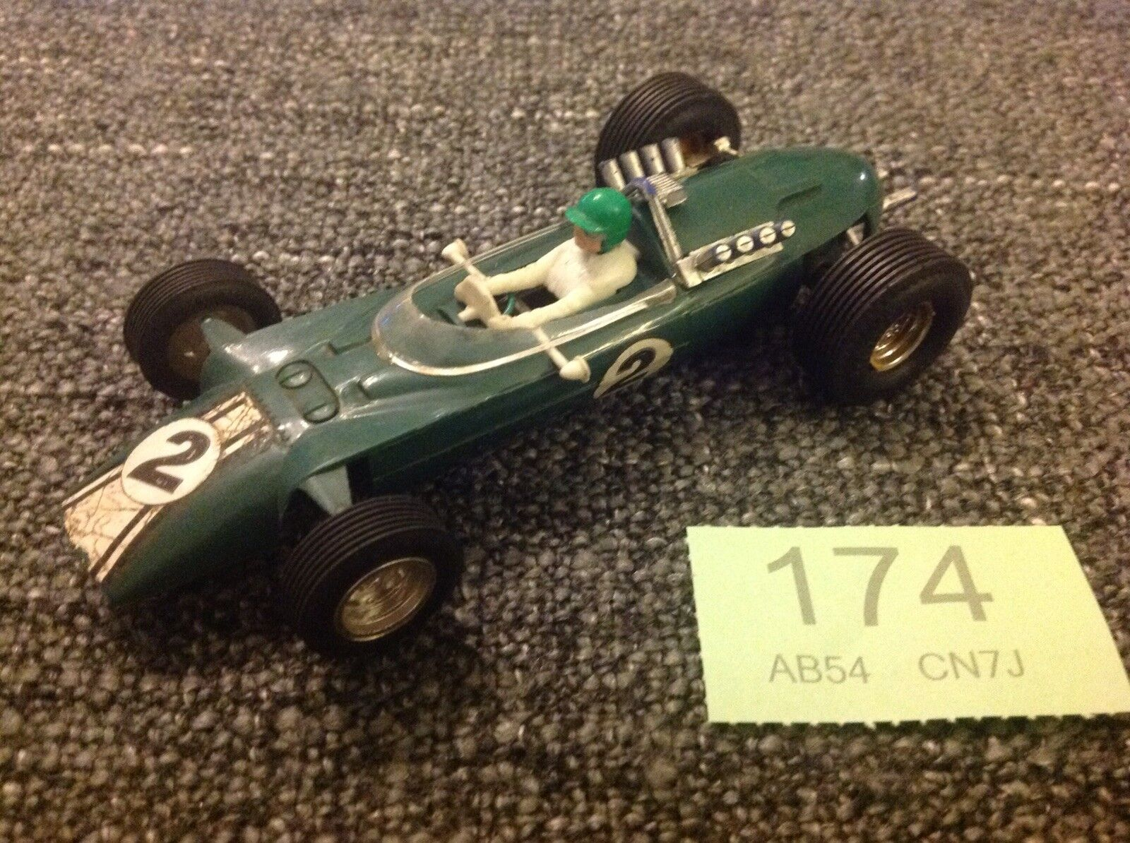 Scalextric Vintage C5 Europa Vee Green In Good Running Condition