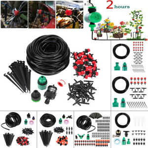 10-30m-Water-Irrigation-Kit-Set-Micro-Drip-Watering-System-Auto-Plant-Garden-DIY