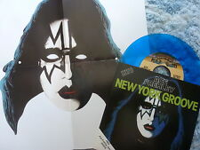 "ACE FREHLEY 45 RPM 7"" - New York Groove BLUE W/COLLECTOR'S SLEEVE & MASK"