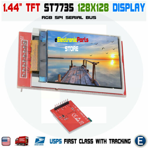"""1.44/"""" LCD SPI 128x128 Color TFT LCD Display Module ST7735 replace Nokia 5110"""