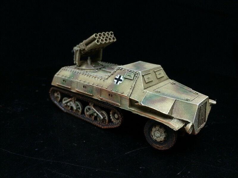 1 56 28mm del Departamento de Seguridad Pública Pintado Segunda Guerra Mundial Perno acción Panzerwerfer 42 auf Maultier GH1418