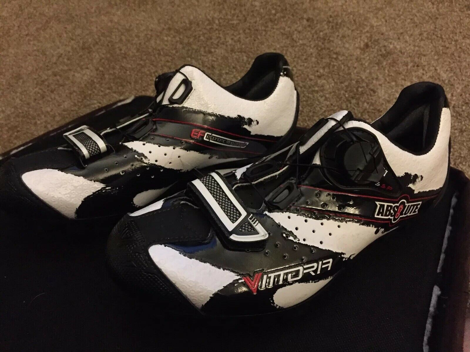 New In Box Vittoria Absolute MTB White Cycling shoes  6 US 38 EU BOA Men's