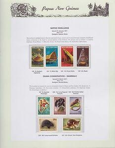 1971-PNG-PAPUA-NEW-GUINEA-Native-Dwellings-Fauna-Mammals-STAMP-SET-K-424