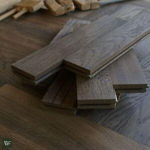 Finest Smoked Oak Parquet Flooring 22mm Herringbone