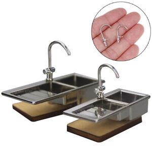 1-12-Dollhouse-Miniature-Accessories-Bathtub-Faucet-Water-Tap-Furniture-oq