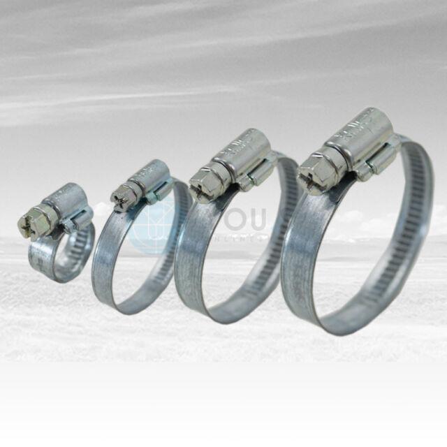 40 Stück 9 mm 90-110mm Schneckengewinde Schlauchschellen Schellen Stahl Verzinkt