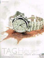 Publicité advertising 1997 La Montre Tag Heuer Serie 6000 Chronographe