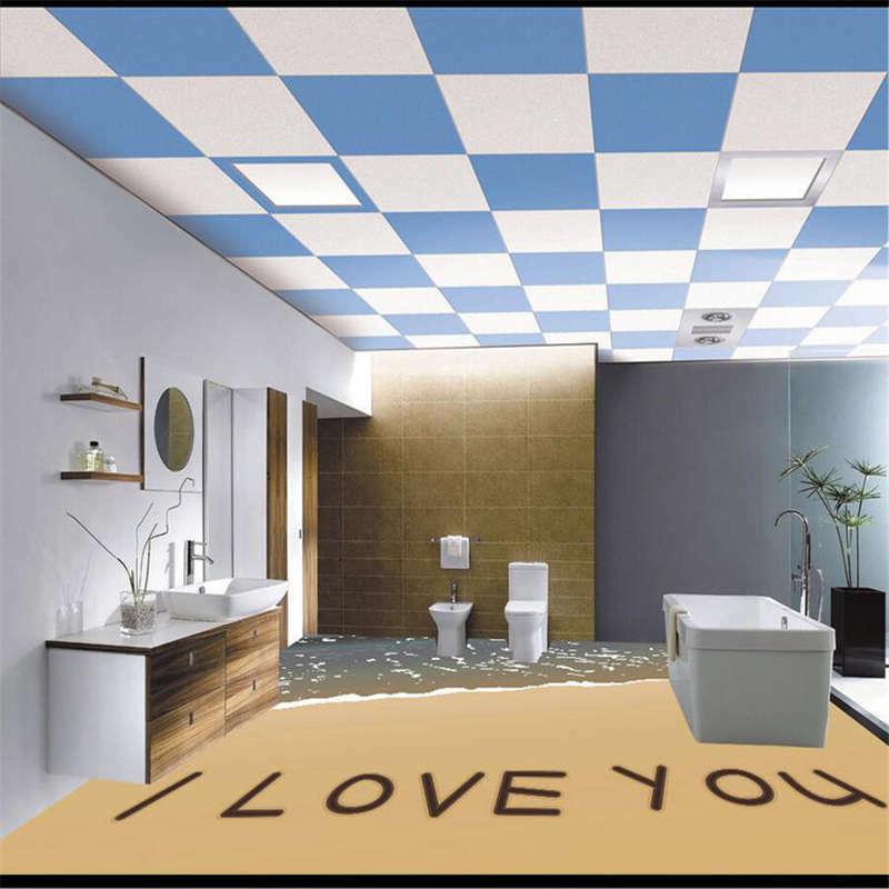 Sand I Love You Beach 3D Floor Mural Photo Flooring Wallpaper Home Wall Decal