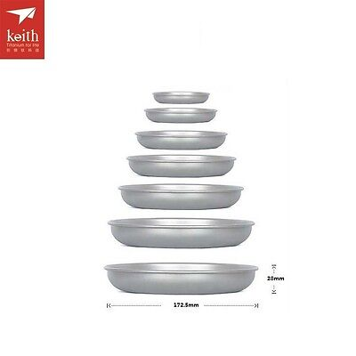 Household Dish Ultralight Outdoor Tableware Camping Titanium D190mm Picnic Plate