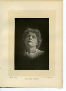 Vintage-Cabinet-Card-by-W-amp-D-Downey-Olga-Brandon-Australian-Stage-Actress