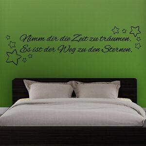 Wandtattoo-Nimm-dir-die-Zeit-zu-traeumen-Spruch-Zitat-Aufkleber-Wand-Tattoo-2056