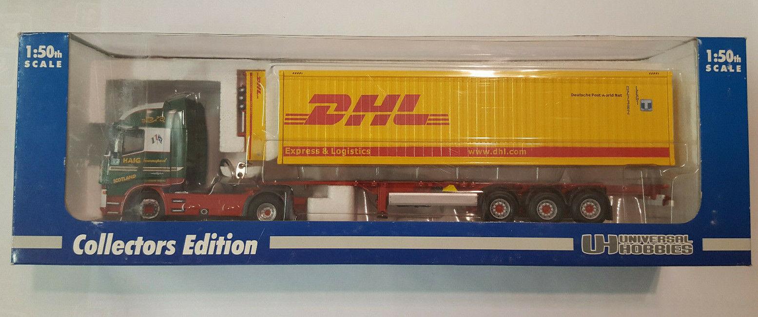 Universal hobbies uh5640a-Iveco Stralis Truck-david Haig DHL 40ft contenedor.