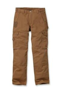 Carhartt-Workwear-B342-Ripstop-Cargo-Trousers-Pant-Brown-Man-Work-W31-L32
