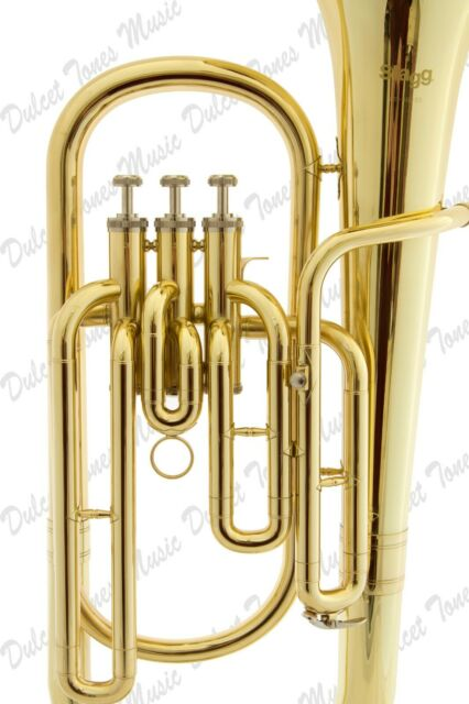 Stagg Bb Three Valve Baritone Horn Brass Body Clear Lacquer Finish Fast Postage Brass