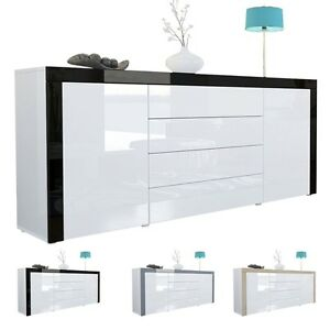 tv sideboard hochglanz wei die neuesten innenarchitekturideen. Black Bedroom Furniture Sets. Home Design Ideas