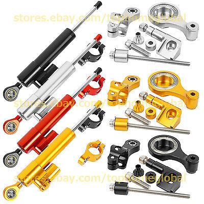 For Yamaha R1 R6 MT07 MT09 FZ1 R3 XJR1300 Steering Damper Stabilizer + Bracket