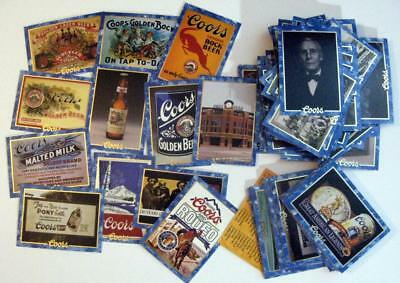 C389 Centenial Wall Plaque #45 Coors Beer Trade Card
