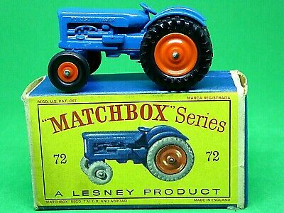 Matchbox 1-75 72a Fordson Tractor Black Tires Set of 4