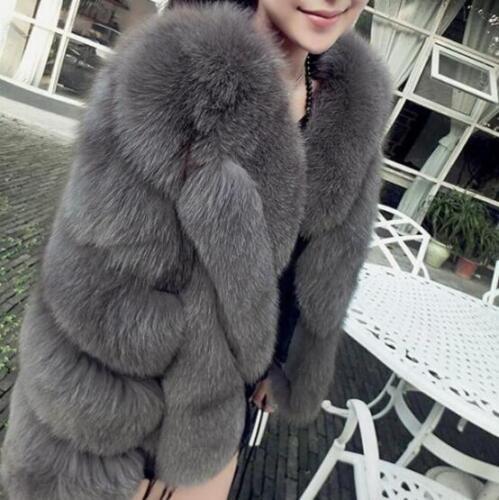 en Chaud luxe Parka pour Hiver Manteaux fourrure Court Outwear Vestes Manteaux de Lâche femmes dxpgdqa