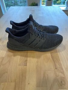 Adidas-Ultra-Boost-4-0-Triple-Black-Running-Shoes-Men-039-s-Size-14-F36641