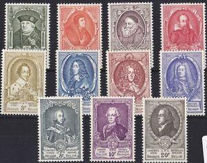 ROW300-Belgium-1952-13th-UPU-Congress-Short-set-of-11-SG1398-1408-MH