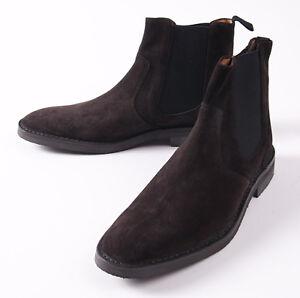 d5b4ba5d NWT $725 ERMENEGILDO ZEGNA Chocolate Brown Suede Ankle Boots US 10.5 ...