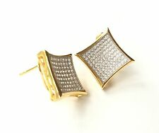 925 Sterling Silver Hip Hop Style Men/Woman Earrings MicroPave Setting