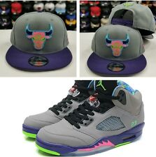 Matching New Era Chicago Bulls 9Fifty snapback Hat for Jordan 5 Bel Air