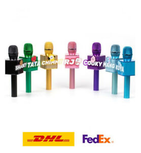 BT21 BTS Bluetooth 5.0 Wireless Karaoke MIC Speaker with Mirror Ball K-pop